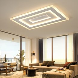 Accesorio de techo cuadrado online-Lámparas de techo de montaje en superficie de superficie ultrafina Lámparas de techo Rectangular acrílico / lámparas de techo cuadradas