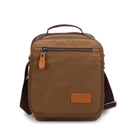 New Men Fashion Shoulder Bags Small Canvas Shoulder Bag Women Messenger  Coffee Brown Khaki Work Travel Soft Unisex Bag aeac4090e1dda