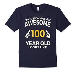 Wholesale Birthday Shirt Women - 100 Year Old Birthday Gifts T Shirt for Senior Man or Woman