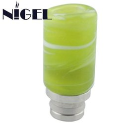 2019 color verde piedra Nigel Green Color Jade Stone Drip Tip 510 Drip Tips Piezas de la boca Healthy Jade Drip Tips para E Cigs 510 color verde piedra baratos