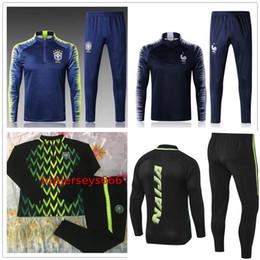 Wholesale set jacket - Nigerias soccer Tracksuit 2018 World Cup jacket 18-19 Nigerias STARBOY Okocha jerseys set football training suit pants
