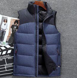 Wholesale Down Vest Fur Collar - Men brand Waistcoat Winter Casual Down Sleeveless Jacket Men Cotton-padded Slim Fur collar Vest Men's cotton vest, men's wear vest