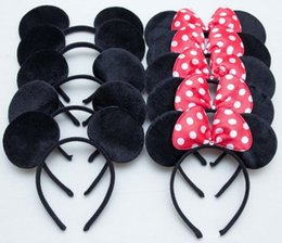 Wholesale mice ears headband - vent Holiday DIY Decorations Mouse headband Children birthday supplies Mouse Ears Baby Hair Accessories Girl Headwear decoration baby...