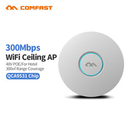 Wholesale Wi Fi Router Antenna - 4pc Comfast 300M CF-E320NV2 Wireless Ceiling AP Router Wifi Access Point Indoor Long Range WI FI Repeater Antenna Router bridge