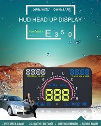 """Tela de velocidade on-line-5.8 """"Tela E350 HUD Cabeça Up Display Car Speeding Aviso Windshield Sistema de Projetor para Carros com OBDII e Porta OBD UE"""