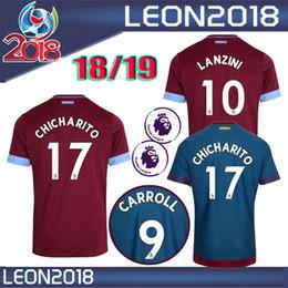 Wholesale Red Ham - Thai quality 2018 2019 West Ham United home soccer Jersey 18 19 CHICHARITO Football jerseys CARROLL SAKHO AYEW soccer shirt