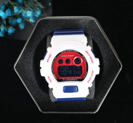 Wholesale time shock - shock-big G watch, digital LED mens sports quartz watch, outdoor waterproof rubber army wrist G 6900, all functional work, box 48 time zone