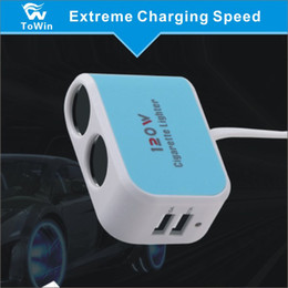Двойная розетка для сигарет онлайн-Многофункциональное автомобильное зарядное устройство Dual USB Розетка Power Out 2 Автомобильный адаптер прикуривателя, совместимый с различными автомобилями