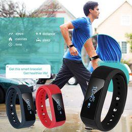 Wholesale Health Black - Excelvan I5 Plus Smart Bracelet Bluetooth 4.0 Waterproof Touch Screen Fitness Tracker Health Wristband Sleep Monitor Smart Watch