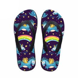102614ecb9da6c wholesale Fashion Unicorn Design Summer Slippers Woman Casual Women Slip-on  House Flip Flops Flats Beach Water Shoes lady