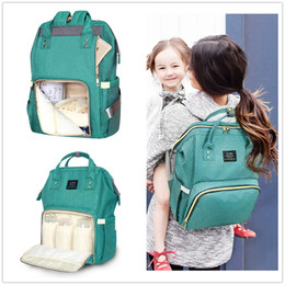 Wholesale print diapers - New Land 22 colors Mommy Backpacks Nappies Bags Mother Maternity Diaper Backpack Large Volume Outdoor Travel Bags Organizer Free DHL MPB01
