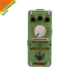 Wholesale chorus flanger pedal - Wholesale-AROMA MOD STATION 11 classic modulation effects Guitarra Effect Pedal chorus flanger phaser Tremolo True Bypass Free Shipping