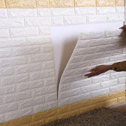 Canada 70 * 15 cm Mousse 3D Stickers Muraux Safty Home Decor Papier Peint DIY Mur Décor Brique Salon Chambre Enfants Chambre Décoratif Autocollant 1 PCS Offre