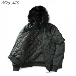 Wholesale Military Fur Coat Men - 2017 AKing ACE Men's Warm Winter Military Jacket with Faux Fur Hood Men Army Style Parka Hooded Coat Jackets Hombre ZA307 45