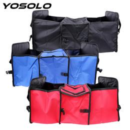 Carpete de troncos on-line-Atacado YOSOLO Car Trunk Storage Bag Estiva Arrumando Tidying Auto Universal Back Seat Organizador Car-styling 3 Compartimentos Carpet Folding Box