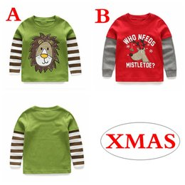 "baby boy winter tshirts Promo Codes - ""WHO NEEDS MISTLETOE "" Xmas Christmas ELK LION BOYS cotton DEER V NECK T-shirts Elk Bear Baby Childrens tshirts"