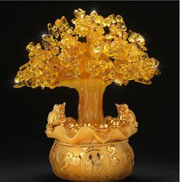 Canada Vente en vrac, naturel Citrine Gem jaune cristal argent Tree Office Home Table OfficeFeng Shui pour la chance, le meilleur cadeau Offre