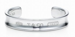 Wholesale topaz sterling 925 silver bracelet - High Quality Celebrity design 925 Silverware bracelet Women Letter wristband Bracelets Jewelry With dust bag Box