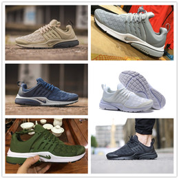 Wholesale Yellow Sand - 2017 Top quality Airs Presto Ultra SE Woven Sand Running Shoes All Black Midnight White Navy Army Wolf Grey Yellow Sports Sneakers EUR 40-45
