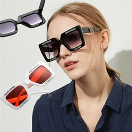 9f0a4cf6116 Oversized Rectangular Sunglasses Retro big square round face letters black frame  tide female personality sunglasses 100pcs T1C295 round faces women ...