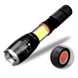 Lanterna escondida on-line-Nova Lanterna Tática 800 Lumens Zoom capaz À Prova D 'Água Handheld Lanterna Com Escondido COB Iluminação para Camping Caminhadas Ciclismo de Emergência