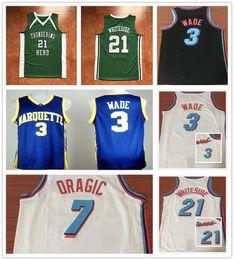 Wholesale Beige Uniform - NCAA College Miami Vice Uniform City Edition Black White Pink 3 Dwyane Wade Jersey Basketball 7 Goran Dragic 21 Hassan Whiteside Jerseys