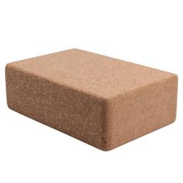 massaggio attrezzature all'ingrosso Sconti Ad alta densità sughero legno Yoga Block Prop Yoga strumento ausiliario lavabile casa palestra esercizio attrezzature per il fitness strumenti di fitness