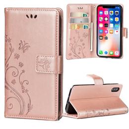 Canada Impression de mode fleur en cuir PU Stand Wallet Flip Cover cas de téléphone avec fentes pour cartes pour iPhone 5S 6 6s plus 7 7 plus Samsung S6 bord S7 Offre