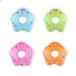 Wholesale Baby Swimming Neck Float - New dolphin Infant Neck Float Circle for Bathing Swimming cartoon PVC Inflatable 39cm 15 inches baby Safety Neck circle Dual airbags B11