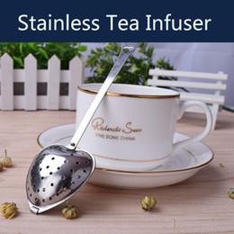 2019 filtro filtro de chá de aço Pote de Chá de Aço Inoxidável Infusor Dia Em Forma de Coração Em Pó Filtros de Chá Infusores Para Folha Solta Grão Xícaras de Chá Canecas Bules filtro filtro de chá de aço barato