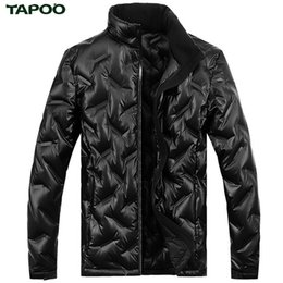 Wholesale Original Fur Coat - TAPOO Waterproof Winter Jacket Zipper Men Black Warm Duck Down Jackets England Style Original Outwear Fashion Coat Plus Size