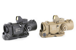 Wholesale Rifle Scopes Optics - Spina Optics Hunting Scope 1x-4x32F+HD400 Optic Sight Rifle Scopes With Light Control Black and Sand Color