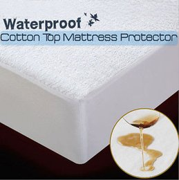 Protetor de colchão de algodão impermeável totalmente equipado Filtted folha Queen / King / Super King de
