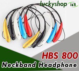 Wholesale Lg Hbs White - 500X HBS800 Bluetooth Headphone Earphone For HBS800 Sports Stereo Bluetooth Wireless HBS-800 Headset Headphones For Iphone 7 Universal Phone