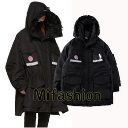 Wholesale Reflective Coats - Europe Vetements Windproof jacket 2018 3M Reflective Men Women Oversized Warm Down Parkas Jacket Coat