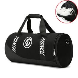 c4c17ed0d20 Gym Sports Bag Large Capacity Shoes Bag For Fitness Women s Waterproof  Cylinder Men One Shoulder Handbag Travel Luggage