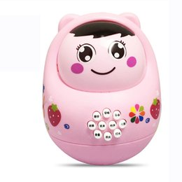 Wholesale baby poly - HIINST Funny Four Colorful LED Music Tumbler Roly-Poly Roly-Doll Baby Education Puzzle Big Tumbler Music Education Toys Aug14