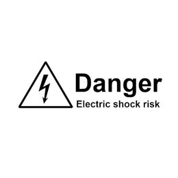 Wholesale Electric Window Car - 18.6cm * 5.9cm Warning Danger Electric Shock Risk Car Sticker Vinyl Decoration Graphic