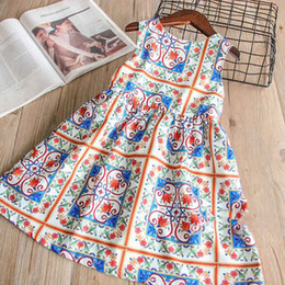 Wholesale Classic Western Dress - Everweekend Girls Vintage Pint Party Dress Classic Fashion spring Summer Cute Children Holiday Western Dress