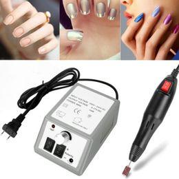 máquina de archivo de pie Rebajas 20000 RPM Lima de Uñas Eléctrica 6 Bits / Set Pro Nail Drill Máquina de Manicura Art Pen Pedicure Foot Art EE. UU. UE Plug Nailfile