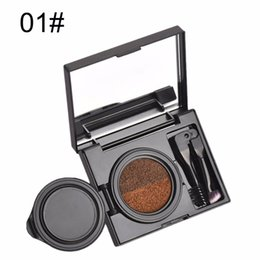 Wholesale Tint Brushes Wholesale - BEEZAN Brand Makeup Eyebrow Gel Waterproof Long Lasting Dual Color Eyebrow Tint Air Cushion Eye Brow Cream With Brush