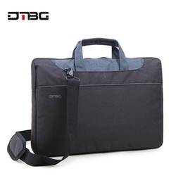 bolso de la tableta de pulgadas Rebajas DTBG Classic Laptop Tote Bags 15.6 Pulgadas mujeres Shoulder Bag Nylon impermeable Laptop Case para Tablet hombres Work OL Bolso