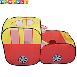 Wholesale Playing Car Games - Safety Car Shape foldable tent for kids Plastic Toy Tents safety ball pit pool game Huge Tent for Children Indoor Play Yard
