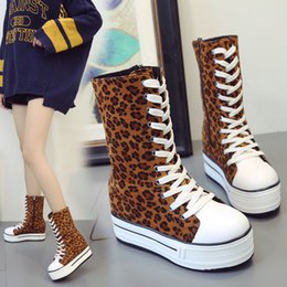 a275d73603f Women s Fashion Leopard Print Round Toe Non-Slip High-Top Shoe Thick Bottom  Boot Woman winter Lady Snow Boots Fashion Classic