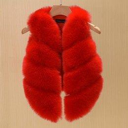 Argentina Los niños de moda simple de piel sintética chalecos niñas falsos chalecos de piel de zorro chica engrosamiento cálido chaleco 12 colores Suministro