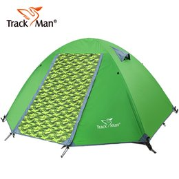 Wholesale Parking Tents - Wholesale- Trackman 2 Person 2 Door 3 Season Huge Space Aluminum pole Water Proof Hiking Park Family Beach Fishing Outdoor Camping Tent
