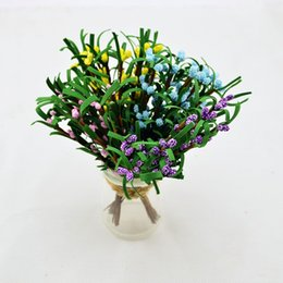 Wholesale Blue Christmas Wreaths - Artificial Flower For Wedding Decoration silk Rose Leaf Christmas wreath Crafts Stamens PE Mulberry branches Leaves Fake