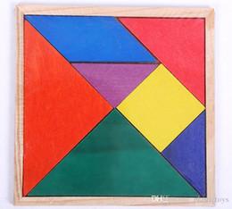 2019 деревянные игры для детей Деревянный танграм 7 кусок головоломки красочные квадратных IQ игры логические интеллектуальные игрушки для детей дешево деревянные игры для детей