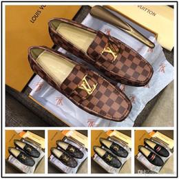 Sapatos de escritório on-line-Melhor Mens escritório vestido de couro sapatos de luxo feitos à mão mocassins slip on italian designer de marca italiana sapatos tamanho grande 38-46