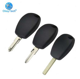 Wholesale renault key case - OkeyTech Remote Auto Car Key Case Replacement Cover Fob Uncut Blank NE73 VA6 VAC102 Blade No Button Key Shell For Renault Logan